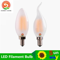 Wholesale Wholesale Candle Designs - New Design C35 C35T E14 E12 Dimmable 4W 6W 110V 220V LED Candle Light Bulbs filaments 360 Degree Led Light Lamp Free Shipping