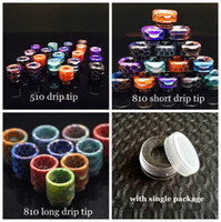 3 Styles Snake Skin Pattern 510 810 Thread Epoxy Resin Drip Tips Wide Bore Mouthpiece for TFV8 Prince Kennedy 528 TFV8 Baby