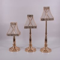 Wholesale candle shape lamp resale online - elegant lamp shaped decorations European and American style DIY Golden Wedding party home table decoration