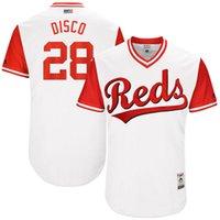 Wholesale Disco Player - Cincinnati Reds Jersey 28 Anthony DeSclafani Disco 2017 Little League World Series Players Weekend Custom Baseball Jersey White