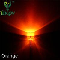led-leuchtdiode flach groihandel-Hohe Qualität 10000 teile / los LED 5 MM Flat Top Orange / Bernstein LED Weitwinkel Emitting Diodes Urtal Helle Glühlampe Lampe F5MM Aktive Komponenten