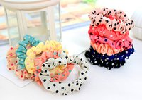 Wholesale Headwear Sweet - Wholesale-New Fashion Cute Sweet Girl 1 Pcs Elastic Hair Band Ponytail Holder Accessories Headwear Drop Shipping