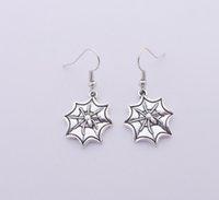 Wholesale Cobweb Earrings - FREE SHIPPING Hot Sale Alloy Cobweb Spider Earrings,E3377