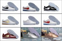 Wholesale Tpr Shell - 2017 famous brand men and women Classic cortez shoes leisure Shells shoes cortez QS breathable Leather fashion outdoor Sneakers Size 36-44