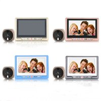 Caméras Enregistrables Pas Cher-Saful TS-506 LCD enregistrable Digital Peephole Door Viewer avec Door Eye Sonnette 1300k Pixels 3X Zoom IR grand angle caméra vidéo