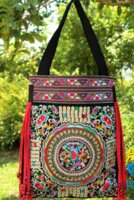 Wholesale Cheap Handmade Crosses - 2016 new national trend embroidered bags handmade flower embroidery ethnic clothshoulder bag handbags Cheap handbag wallet