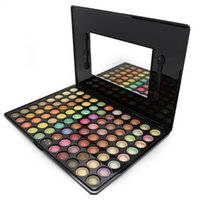 Wholesale Pigment 88 - Wholesale-Women Professional 88 Colors High Gloss Eyeshadow Palette Makeup Baked Pigment Eye Shadow maquiagem With Cosmetic Brush
