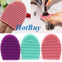 Wholesale Brushegg Silicone Brush Cleaning Egg Brush egg Cosmetic Brush Cleanser Make up Makeup Brush Cleaner Clean tools colors