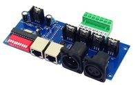xlr dmx venda por atacado-4 CH dmx512 dimmer Controller4 CH DMX 512 decodificador, controlador RGBW, tem RJ45 XLR