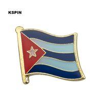 Wholesale cuba wholesalers - Free shipping the cuba Metal Flag Badge Flag Pin