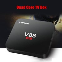 Wholesale Cheapest 3d Movies - 2017 Cheapest V88 RK3229 Android 6.0 1G 8G TV BOX support 3D Free Movies Online Media Player MXQ PRO 20 PCS