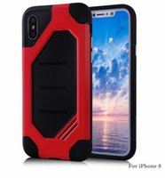 Wholesale hornet phone for sale - Group buy 2017 New Plus Super Hornet Cellphone Case For iPhone X Plus Protective CoverTPU PC Shockproof Armor Mobile Phone Case colors