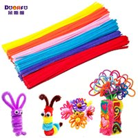 Wholesale Foam Rubber Rope - Wholesale- 100pcs Multi color Montessori Materials Chenille Children Plush Educational Toy Crafts Colorful Pipe Cleaner Handmade DIY Craft