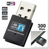 Wholesale Wireless Desktop Computer Adapter - 2016 hot selling Mini USB wireless wifi- N network card WiFi signal transmitter  receiver desktop WLAN USB Adapter for PC computer