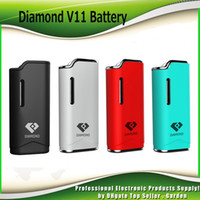 Wholesale Premium Diamonds - Original Airis Diamond V11 Vaporizer 280mAh Battery Auto Vape Ecig Mods Premium Vaporizer E Cigarette Airistech 100% Authentic