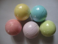 Wholesale bath balls wholesale online - 10g Random Color Natural Bubble Bath Bomb Ball Essential Oil Handmade SPA Bath Salts Ball Fizzy Christmas Gift for Her