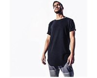 Wholesale green rock clothing resale online - Fashion men extended t shirt longline hip hop tee shirts women justin bieber swag clothes harajuku rock tshirt homme