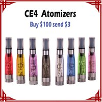 [Sp] Atomizers CE4 de haute qualité 1.6ml ego-t battery CE4 Cartomizer Black / Clear / Colorful Tips E-cigarette Clearomizer vs MT3 Atomizers
