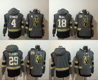 Wholesale Flash Jackets - Mens Vegas Golden Knights Hoodies Hockey Jersey 18 James Neal 4 Clayton Stoner 29 Marc-Andre Fleury Sweatshirts Winter Jacket Free Shipping
