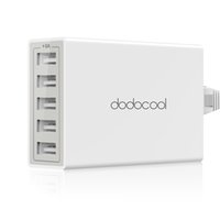 Wholesale Ac Usb Power Cord - dodocool 40W 8A 5-Port USB Charging Station Travel Wall Charger Power Adapter with 1.5m Detachable AC Power Cord DA65