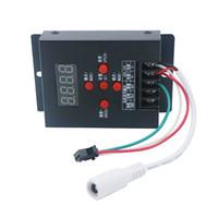 tiras led inteligentes rgb venda por atacado-Edison2011 T-500 WS2811 WS2801 LPD6803 Mini Controlador LED RGB Inteligente para 5050 Magia Sonho Cor RGB LED Módulo de Tira