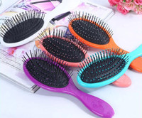 Wholesale Hot Hair Combs - hot Wet & Dry Hair Brush Original Detangler Hair Brush Massage Comb With Airbags Combs For Wet Hair Shower Brush