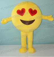 Wholesale Expressions Clothing - Professional custom higher quality Emoji expression Mascot Costume Cute Cartoon Clothing Character Mascot Party Dress EMS Free Shipping