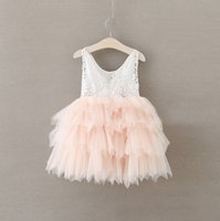 Wholesale Childrens Tutu Wholesalers - Hug Me Baby Girls Dress Christmas Lace Tutu 2016 Autumn Winter Dresses Childrens Sleeveless Kids Clothing Party Dress AA-211