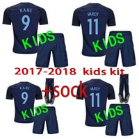Wholesale White Kids Suit Shorts - 2017 18 kids kit World Cup Soccer jersey Kits england ROONEY KANE STURRIDGE STERLING HENDERSON VARDY children with socks Football suit