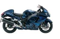 kit de carenado hayabusa azul al por mayor-5 regalos gratis Nueva ABS motocicleta Kits de carenado 100% aptos para SUZUKI GSXR1300 Hayabusa 2008-2014 buena bonita azul marino no.a10