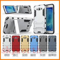 Wholesale Iron Man Iphone Casing Wholesale - Hybrid Armor Iron Man Shockproof Case for iPhone 5s 5SE 6 6S plus Samsung Galaxy S5 S6 S7 edge Plus Note 5 Kickstand