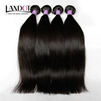 3 adet 26 düz perulu saç toptan satış-Perulu Düz Saç 100% Işlenmemiş Perulu İnsan Saç Dokuma Paketler Sınıf 8A Perulu Saç Uzantıları 3 Adet Lot Doğal Renk Boyanabilir
