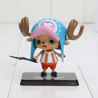 Wholesale Tony Chopper Dolls - Free Shipping Japanese Anime Cartoon One Piece Tony Tony Chopper Action Figures PVC Toys Doll model two years later New World