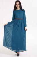 Wholesale Muslim Wear Clothing - Muslim Arabia ethnic costume wearing long gown women's Islamic Clothing Arab The
