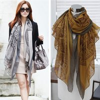 Wholesale Long Voile Scarves - Autumn and Spring Voile scarf women fashion long printed scarves ladies stoles warm shawls hijab for women summer new