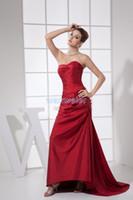 gelinler hizmetçi balo elbiseleri toptan satış-Ücretsiz Kargo Doğrudan Satış Yeni Moda Gelinler Hizmetçi 2018 Artı Boyutu Vestidos Formales Parti Balo Elbisesi Fuschia Gelinlik Modelleri