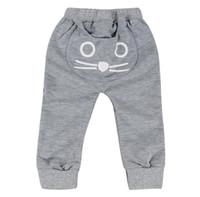 katzenhose großhandel-2017 Mode Kleinkind Infant Kinder Jungen Mädchen Katze Pluderhosen Hosen Leggings Bottoms kleinkind hosen G1164