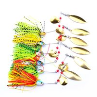 Wholesale New Spinner Baits - New Design Fishing Tackle 6 color Spoon Lures 6pc Spinner Lure Fishing Lure for Fishing bait Free Ship