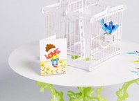 Wholesale Handmade Crafted Birthday - Hot Birdcage Laser Cut 3D pop up paper laser cut crafts display custom Handmade Greeting Cards Happy Birthday Gifts Postcards