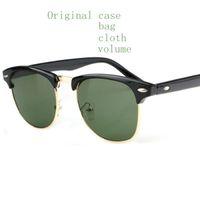Wholesale Uv Polarised Sunglasses - New Luxury Men Brand Polarised Sunglasses Reflective Sport UV Protection Fashion Designer Vintage Sun glasses 3016 With Case Bag Original