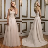 Wholesale Sexy Dress Ballgown - 2016 Empire Elegant Vintage weddings dresses princess ballgown Sweetheart Organza backless wedding dress with beadings Sequins 2017 QW810