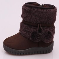 Wholesale Cute Winter Boots For Baby - warm Boots Shoes winter snow boots for children Baby Kids toddler cute Fringe shoes 5 color 1646