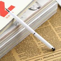 iphone 4s kalem kalemi toptan satış-Wholesale-1pcs 2 in1 Kapasitif Dokunmatik Ekran Stylus Kalem ile Tükenmez Kalem iPad 2 için 3 iPhone 4 4 S Drop Shipping Toptan