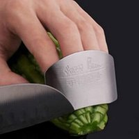 Wholesale knife kitchen finger guard for sale - Group buy Stainless Steel Finger Nail Protector Guard Chop Safety Slice Knife Kitchen Tool R21