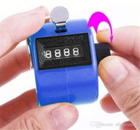 Wholesale Tally Counter Wholesale Price - Free shipping ABS Hand held Tally Counter 4 Digit Counter Buddha Numbers Clicker Golf Good quality Low Price Wholesale