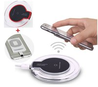 Wholesale Iphone Wireless Charge Kit - QI Wireless Charger Charging Pad + Receiver Kit For iPhone 5 5S 6 6Plus