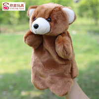 Wholesale Teddy Bear Puppets - Wholesale-Ted 2 Teddy Bear Hand Finger Puppets Toy Plush Stuffed Infant Baby Gift