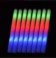 tezahürat lambası yak toptan satış-Renkli Yanıp Sönen LED Glow Sopa Light Up Düğün Doğum Günü Partisi Için LED Işık Sopa Tezahürat Sticks Düğün LED Işık