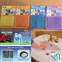 Wholesale New Sani Stick Conduit Bathtub Sewer Decontamination Sticks Cleaning Keep Your Drain Pipes Toilet Bathtub Drain Cleaner Sewer Rod WX C08