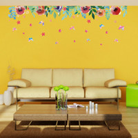 50 * 70cm Stickers muraux DIY Art Decal Removable Wallpaper Autocollant mural pour chambre à coucher Store XH7212 Beautiful Flowers